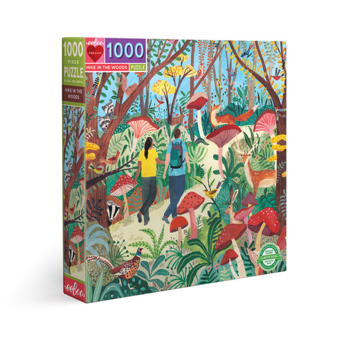 Hike in the Woods - 1000pc Square Jigsaw Puzzle by eeBoo