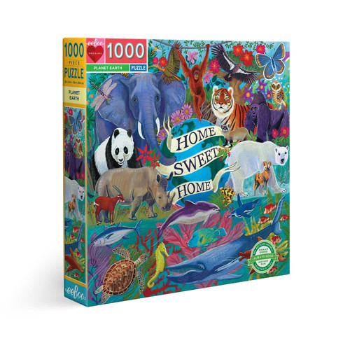 Planet Earth - 1000pc Square Jigsaw Puzzle by eeBoo