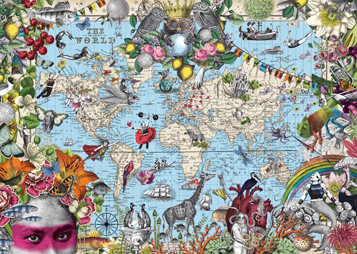 Quirky World - 2000pc Jigsaw Puzzle By Heye