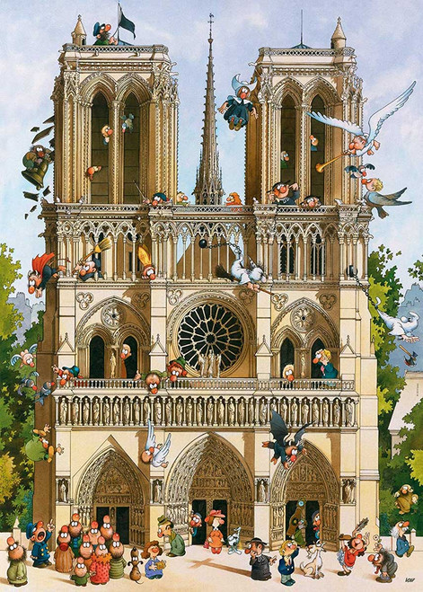 Loup: Vive Notre Dame! - 1000pc Jigsaw Puzzle By Heye