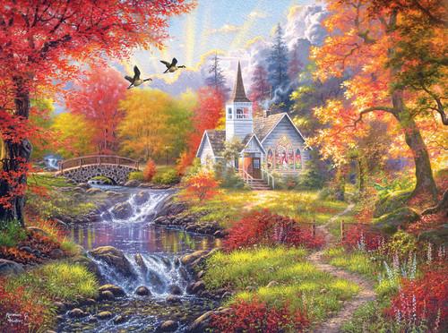 Woodland Church - 1000pc Jigsaw Puzzle by Cra-Z-Art
