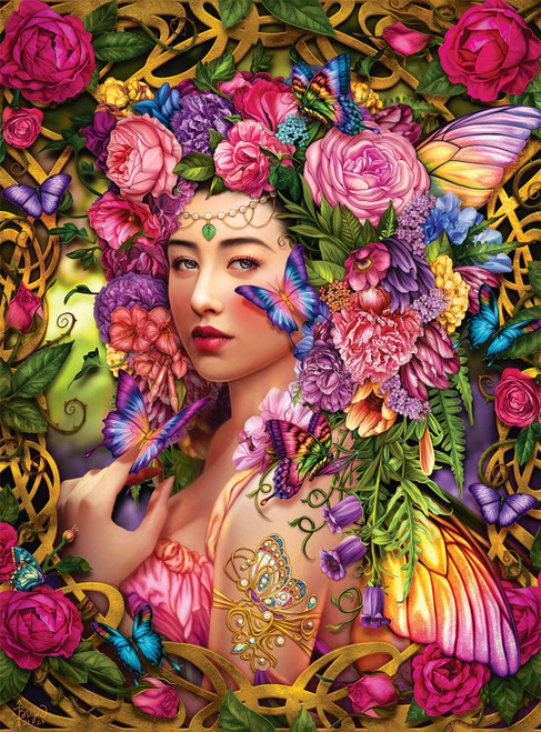 Spring Queen - 1000pc Glitter Jigsaw Puzzle by Buffalo Games