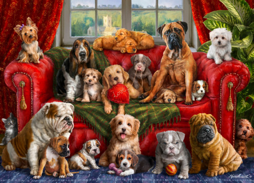 Love My Dogs - 1000pc Jigsaw Puzzle by Vermont Christmas Company
