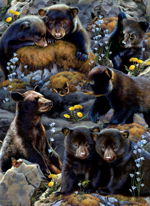 Bear Cubs - 500pc Large Format Jigsaw Puzzle By Sunsout