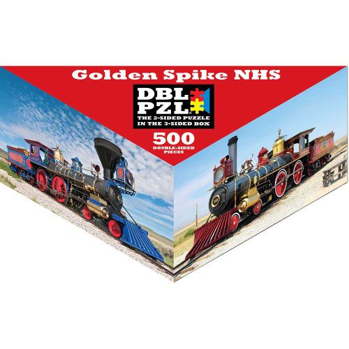 Golden Spike - 500pc Double-Sided Jigsaw Puzzle by Pigment & Hue