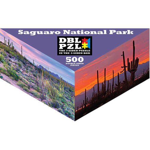 Saguaro National Park - 500pc Double-Sided Jigsaw Puzzle by Pigment & Hue