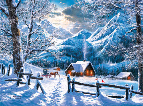 On a Snowy Morning - 500pc Jigsaw Puzzle By Sunsout