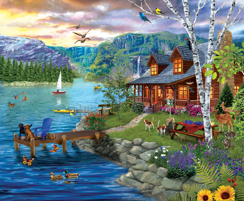 Peaceful Summer - 1000pc Jigsaw Puzzle By Sunsout