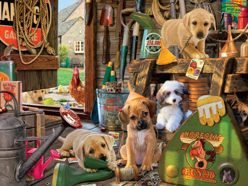 Dog Days: Puppy Workshed - 750pc Jigsaw Puzzle by Buffalo Games