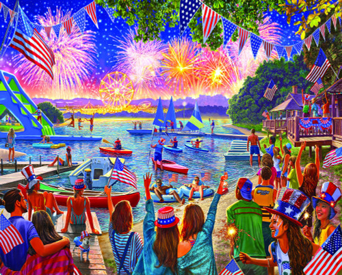 4th Fireworks - 1000pc Jigsaw Puzzle By White Mountain