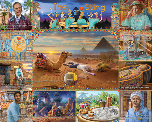 The Sting of APEP - 1000pc Mystery Jigsaw Puzzle By White Mountain