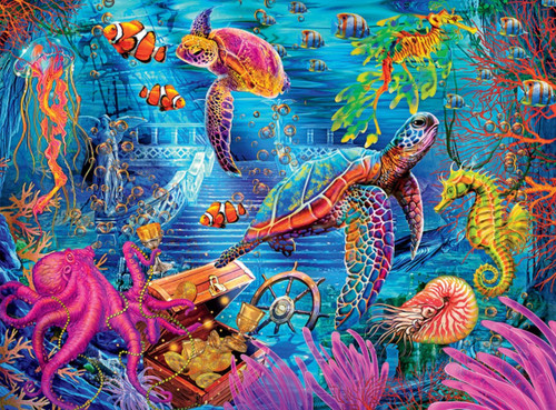 Colorful Ocean - 1000pc Jigsaw Puzzle by Buffalo Games