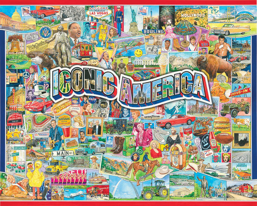 Iconic America - 1000pc Jigsaw Puzzle By White Mountain
