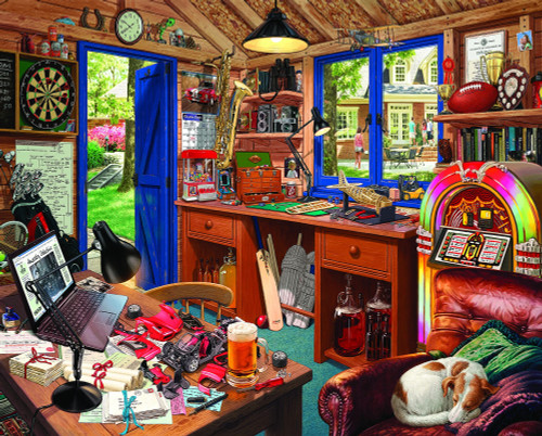 Dad's Hideaway - 1000pc Jigsaw Puzzle By White Mountain