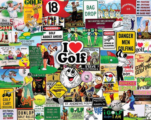I Love Golf - 1000pc Jigsaw Puzzle By White Mountain
