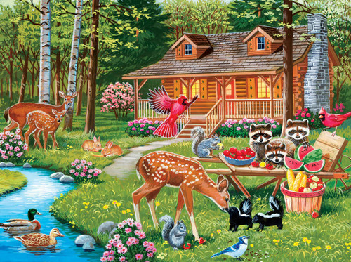 Creekside Gathering - 400pc Jigsaw Puzzle by Masterpieces