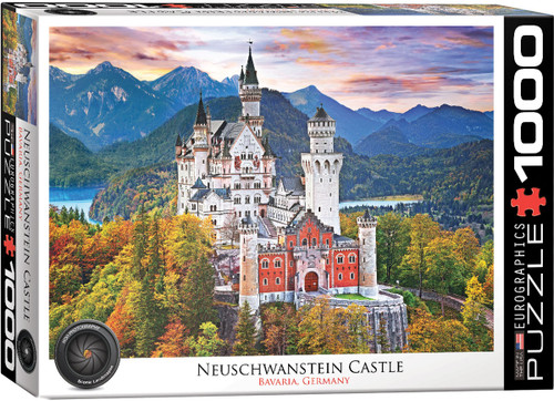 Neuschwanstein Castle Germany - 1000pc Jigsaw Puzzle by Eurographics