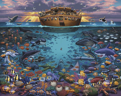Noah's Ark Under the Sea - 1000pc Jigsaw Puzzle by Dowdle