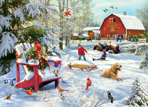 The Farm at Christmas - 1000pc Jigsaw Puzzle by Vermont Christmas Company