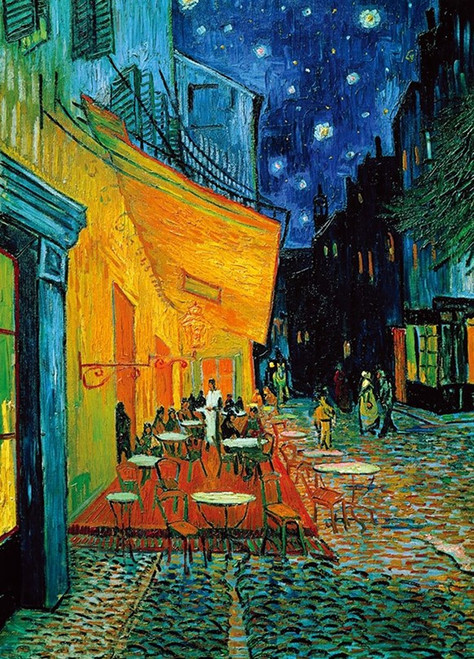 Van Gogh: Cafe Terr @ Night On The Place - 1000pc Jigsaw Puzzle By PuzzleLife