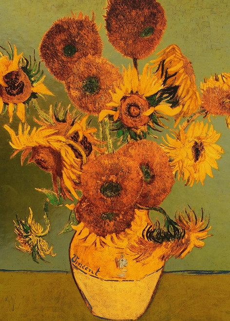 Van Gogh: Sunflower (Gold) - 1000pc Jigsaw Puzzle By PuzzleLife