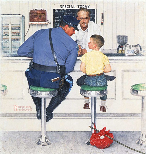 Norman Rockwell: Runaway - 500pc Jigsaw Puzzle By PuzzleLife