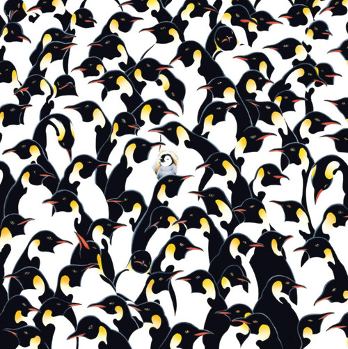 World's Most Difficult: Penguins - 500pc Double-Sided Jigsaw Puzzle by TDC