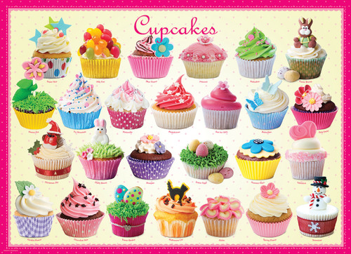 Cupcakes - 300pc Jigsaw Puzzle by Eurographics