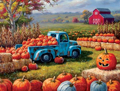 Pumpkin Farm Festival - 300pc Large Format Jigsaw Puzzle By Sunsout