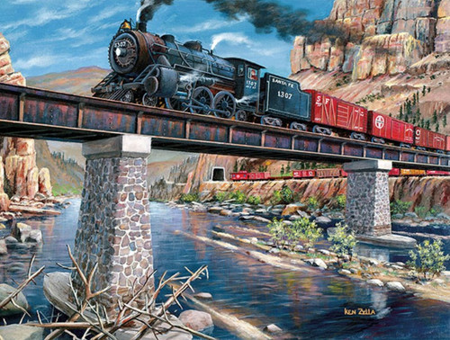 Stone, Steel & Steam - 300pc Large Format Jigsaw Puzzle By Sunsout