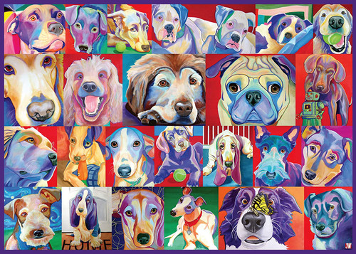 Hello Doggie - 500pc Large Format Jigsaw Puzzle By Ravensburger