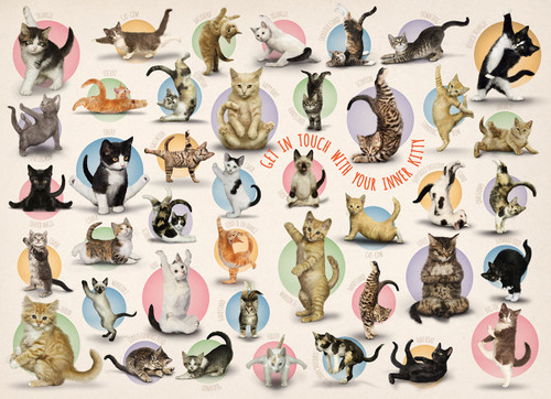 Yoga Kittens - 300pc Jigsaw Puzzle by Eurographics