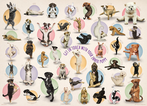 Yoga Puppies - 300pc Jigsaw Puzzle by Eurographics