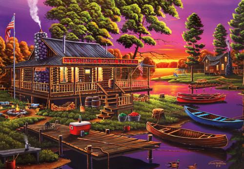 Stephanie's Canoe Rental - 2000pc Jigsaw Puzzle by Buffalo Games