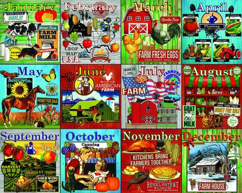 Farm Calendar - 1000pc Jigsaw Puzzle By White Mountain