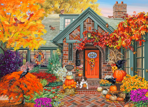Autumn Welcome - 1000pc Jigsaw Puzzle by Vermont Christmas Company