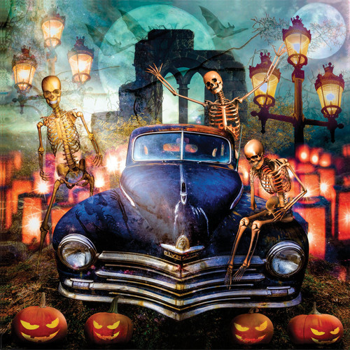 The Old Plymouth on Halloween - 1000pc Jigsaw Puzzle By Sunsout