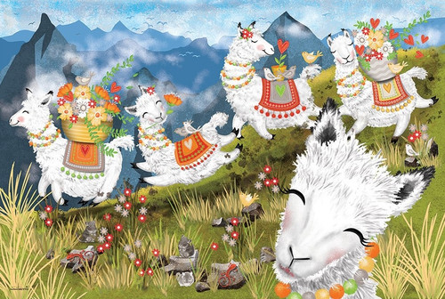 Leaping Llamas - 36pc Floor Puzzle By Cobble Hill