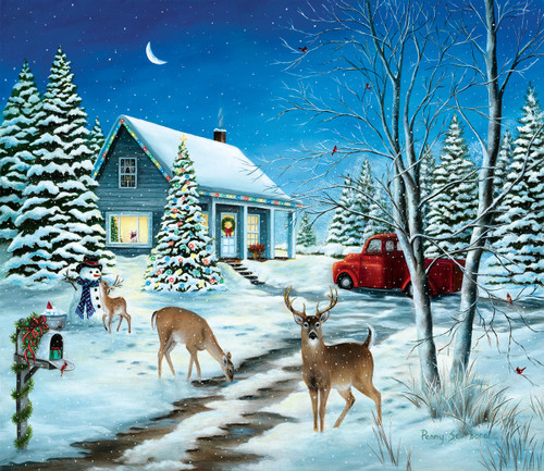 Unexpected Christmas Guests - 550pc Jigsaw Puzzle by Sunsout