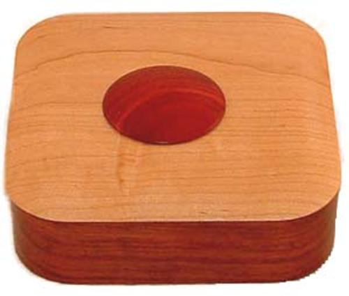 Puzzle Box - Terra I (Bubinga, Cherry, & Bloodwood)