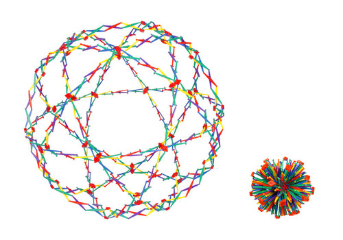 Hoberman Sphere - Rainbow