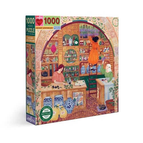 Ancient Apothecary - 1000pc Square Jigsaw Puzzle by eeBoo