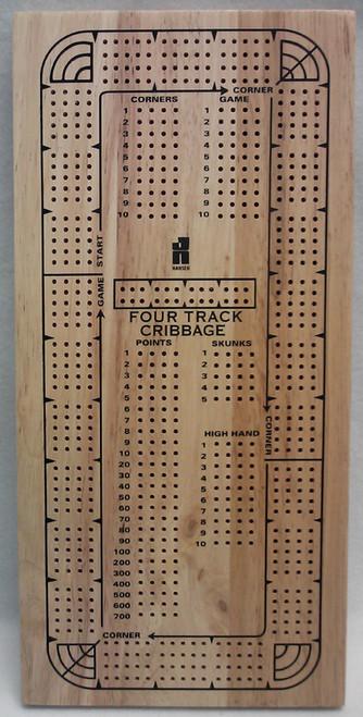 Board Games - 4 Track Cribbage Board