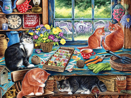 Cats Retreat - 1000pc Jigsaw Puzzle by Jack Pine