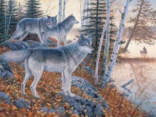 Silent Travelers - 1000pc Jigsaw Puzzle by Jack Pine