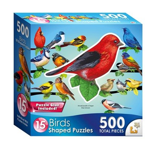 Songbirds Mini Shaped - 500pc Jigsaw Puzzle by Lafayette Puzzle Factory