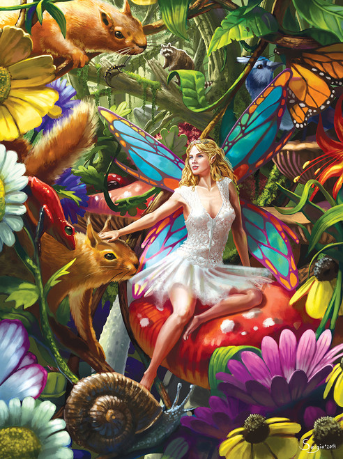 Summer Forest Fairy - Rainbowline - 750pc Jigsaw Puzzle by Lafayette Puzzle Factory