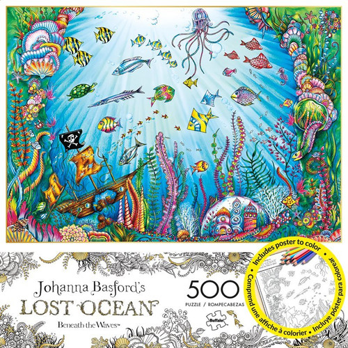 Lost Ocean: Johanna Basford Beneath The Waves - 500pc Coloring Book And  Jigsaw Puzzle By Buffalo Games (discon) - SeriousPuzzles.com