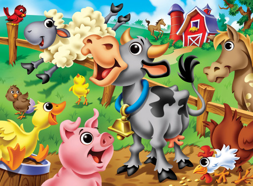 Googly Eyes: Farm Animals - 48pc Jigsaw Puzzle by Masterpieces