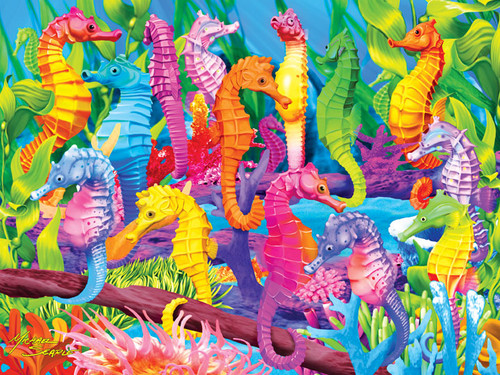 Jigsaw Puzzles - Extreme Color: Singing Seahorses